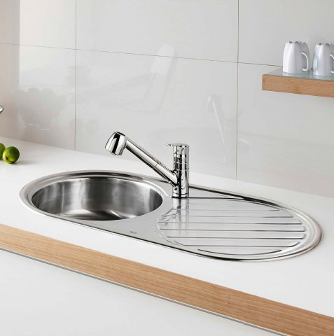 Stainless Steel Kitchen Sink By Roca New XTra Sink. Kitchens Roca ...