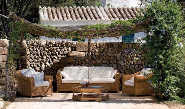 Muebles Para Jardines. Perfect Mesa Para Jardin De Piedra Artificial ...
