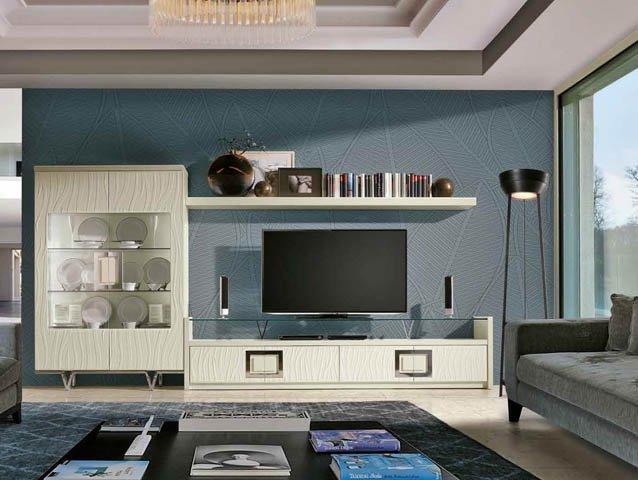 excellent fbrica llass muebles para salones clsicos y modernos mueble moderno para tv de calidad with salones clasicos modernos - Salones Clasicos Modernos