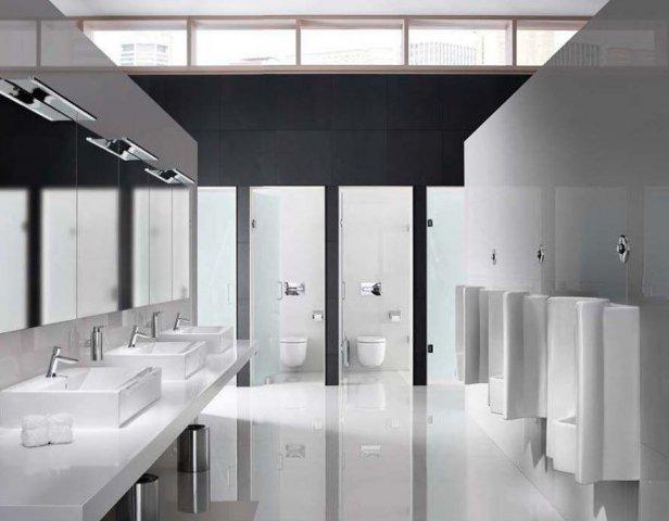 Inodoros Baños Publicos:Roca, muebles de baño para espacios publicos, lavabos para hosteleria