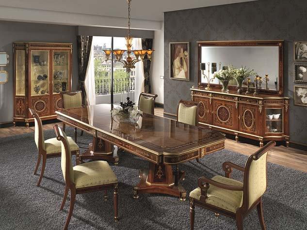 Creaciones fejomi luxury classic marquetry furniture for Muebles de oficina lujosos