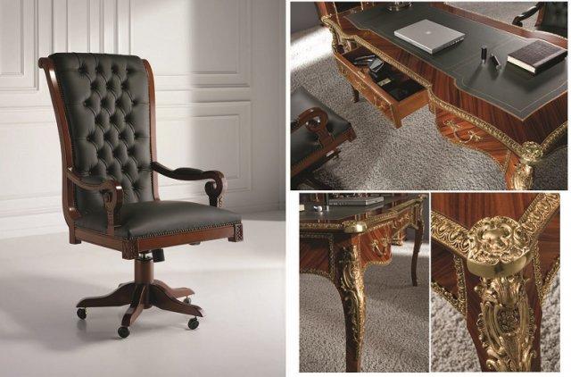 Creaci nes fejomi f brica de muebles cl sicos de lujo - Muebles despacho clasico ...