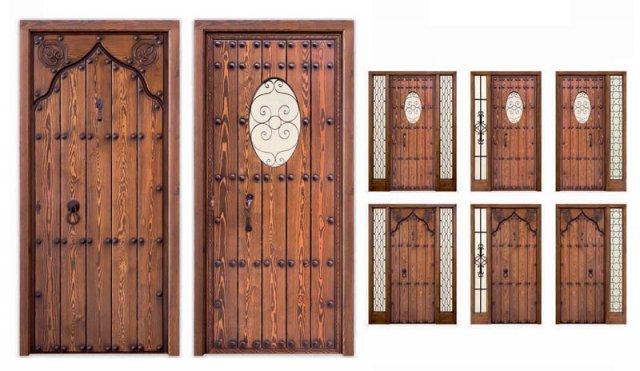 Alpujarre as puertas r sticas f brica de puertas en espa a - Puertas de madera exterior rusticas ...